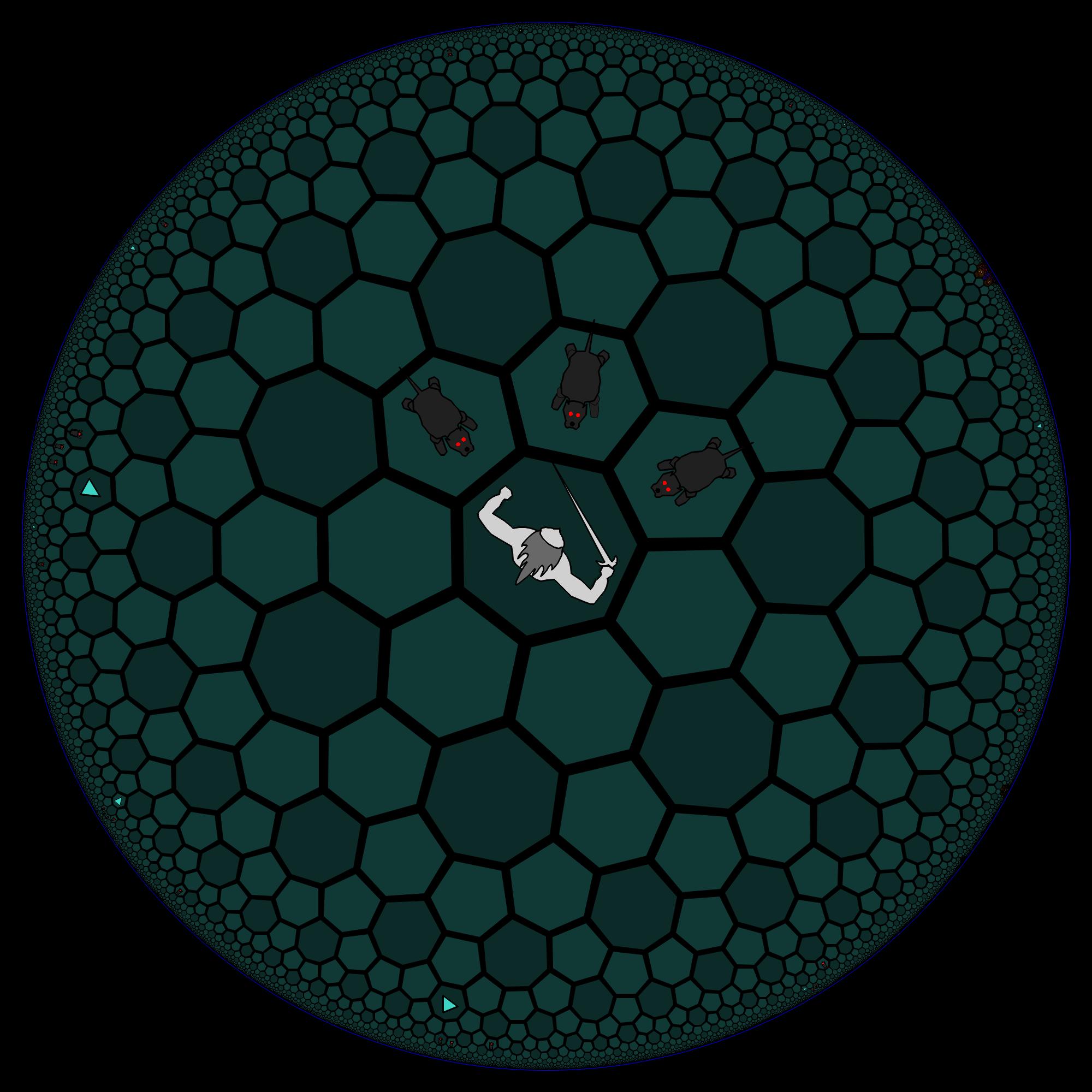 hyperbolic geometry in HyperRogue - Eye of Hydra